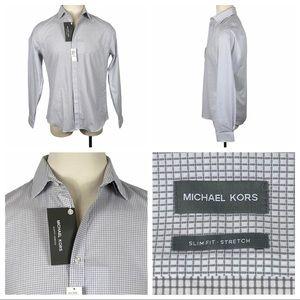 NWT Michael Kors Slim Fit Stretch Dress Shirt